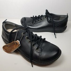 Birkenstock Isley black leather lace-up shoes